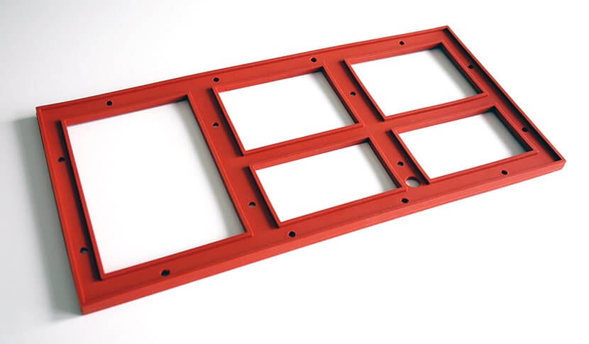 Silicone material for molded parts production